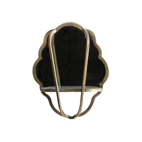 BePureHome Mirror Reflect antique brass gold iron 51x40x11cm