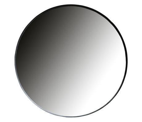 LEF collections Mirror Doutzen black metal Ø115cm