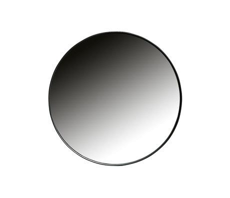 LEF collections Spiegel Doutzen zwart metaal Ø50x5cm
