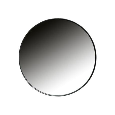 LEF collections Miroir Doutzen métal noir Ø50x5cm