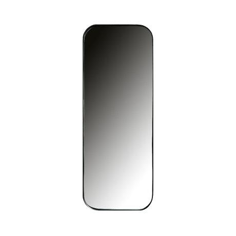 LEF collections Miroir Doutzen métal noir 110x40cm