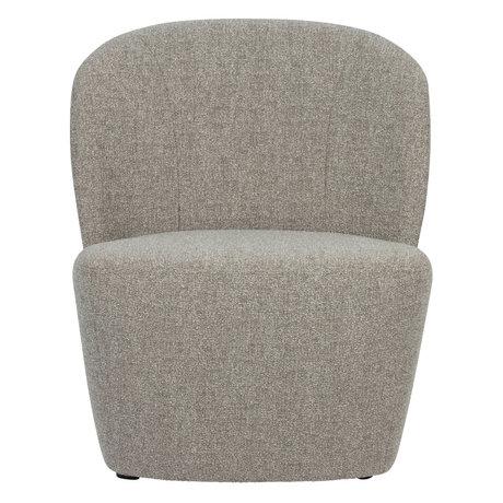 vtwonen Fauteuil Lofty gris textile 68x72x75cm