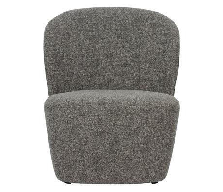 vtwonen Fauteuil Lofty textile gris foncé 68x72x75cm
