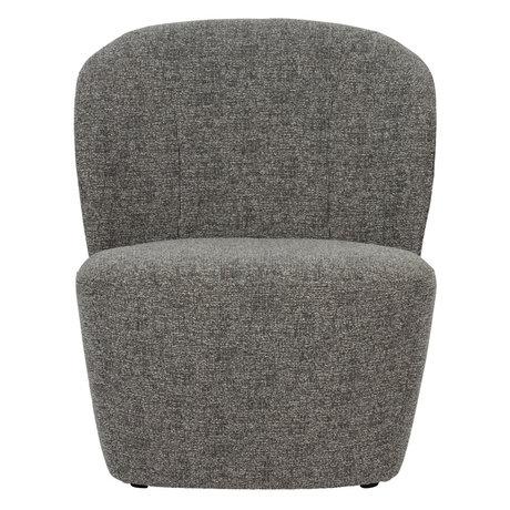vtwonen Armchair Lofty dark gray textile 68x72x75cm