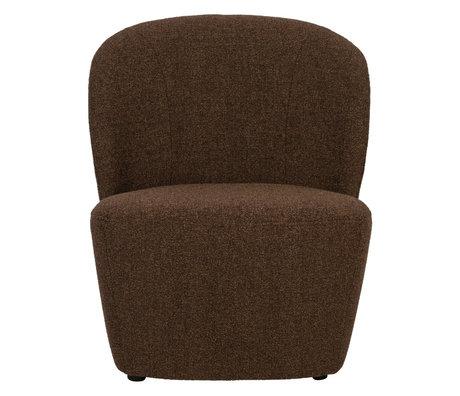 vtwonen Armchair Lofty brown textile 68x72x75cm