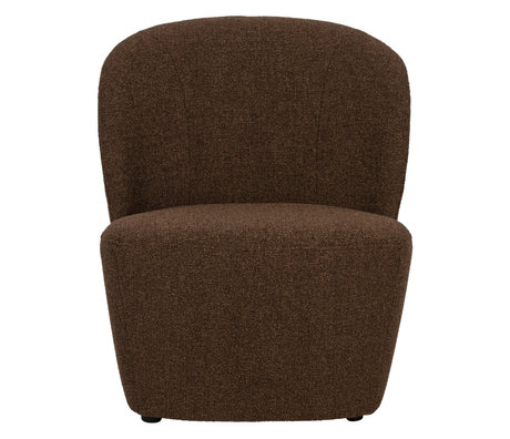 vtwonen Fauteuil Lofty bruin textiel 68x72x75cm