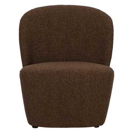 vtwonen Fauteuil Lofty marron textile 68x72x75cm