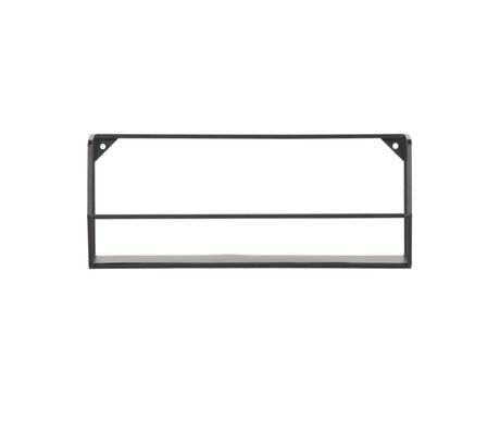 LEF collections Wall shelf Zeta L black iron 40x16x16cm