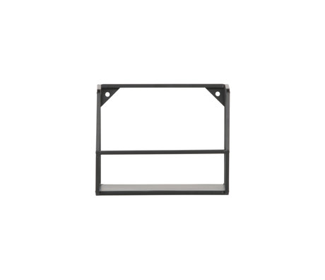 LEF collections Wall shelf Zeta M black iron 20x16x16cm