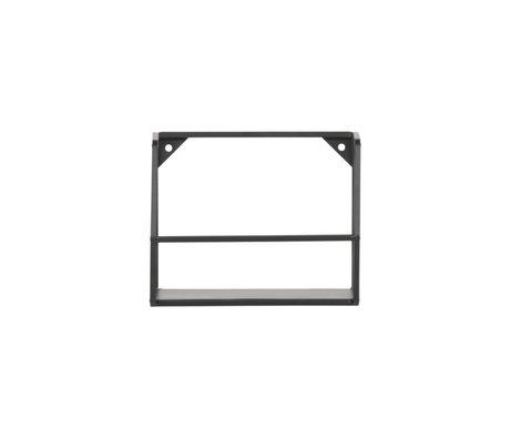 LEF collections Wandplank Zeta M zwart ijzer 20x16x16cm