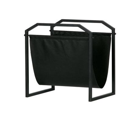 LEF collections Tijdschriftenrek Zeta zwart ijzer 35x26x36cm