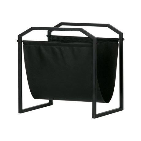 LEF collections Magazine rack Zeta black iron 35x26x36cm