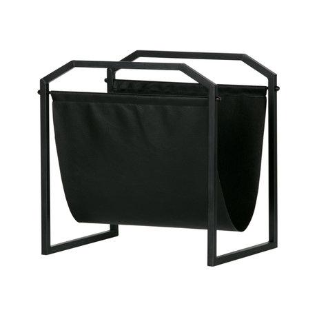 LEF collections Porte-revues Zeta fer noir 35x26x36cm