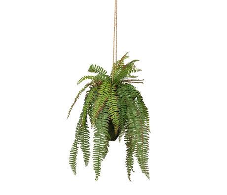 LEF collections Hangende kunstplant Varen groen kunststof 30x30x58cm