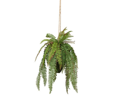 LEF collections Hanging artificial plant Fern green plastic 30x30x58cm