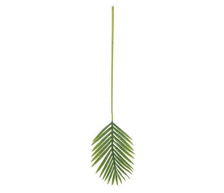 LEF collections Kunstblad Palm groen kunststof 91x26cm