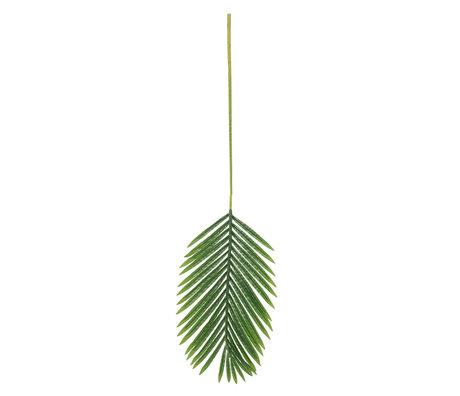LEF collections Kunstblad Palm groen kunststof 110x34cm