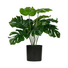 LEF collections Künstliche Pflanze Monstera grüner Kunststoff 42x42x40cm