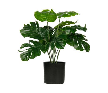 LEF collections Kunstplant Monstera groen kunststof 42x42x40cm