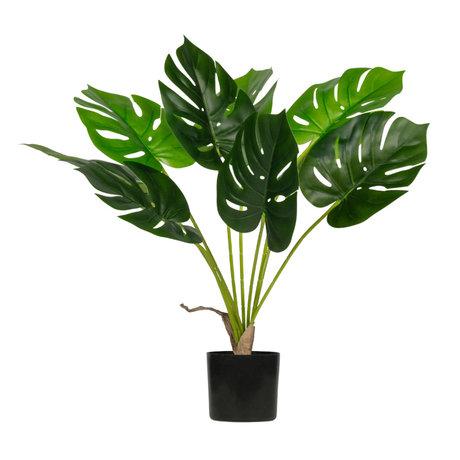LEF collections Plante artificielle Monstera plastique vert 70x70x70cm