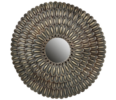 BePureHome Mirror Husk antique brass gold iron 83x83x4cm