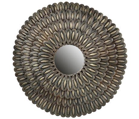 BePureHome Spiegel Schale Antik Messing Gold Eisen 83x83x4cm