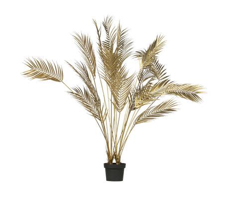 LEF collections Kunstplant Palm goud kunststof 75x75x110cm