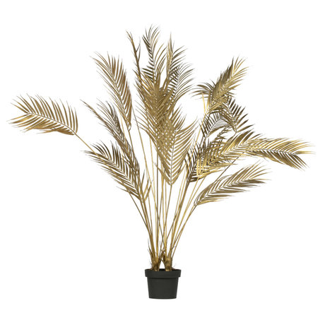 LEF collections Artificial plant Palm gold plastic 75x75x110cm