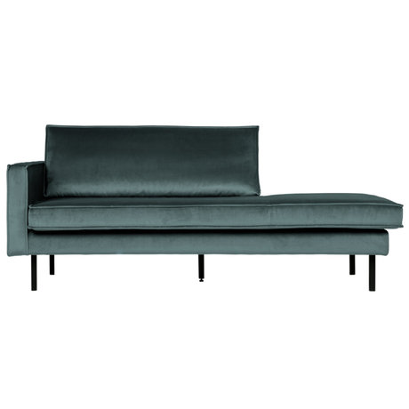 BePureHome Daybed Rodeo links blauer Samt 203x86x85cm