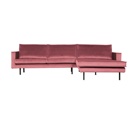 BePureHome Rodeo Chaise Longue Rechts Velvet Pink