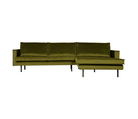 BePureHome Rodeo Chaise Longue Rechts Velvet Olive