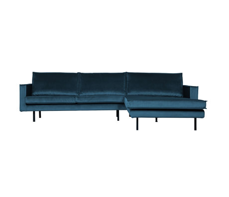 BePureHome Rodeo Chaise Longue Rechts Velvet Blue