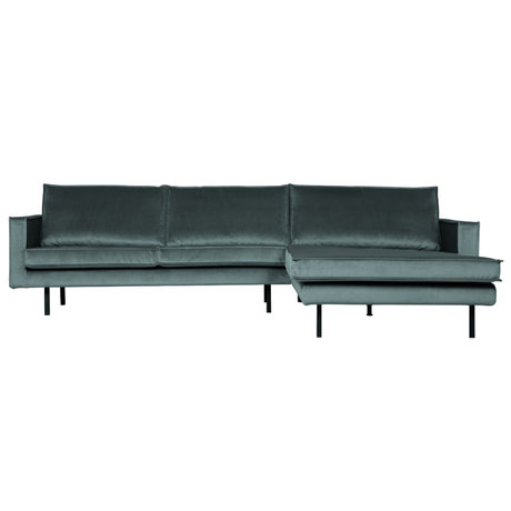 BePureHome Rodeo Chaise Longue Rechts Velvet Teal
