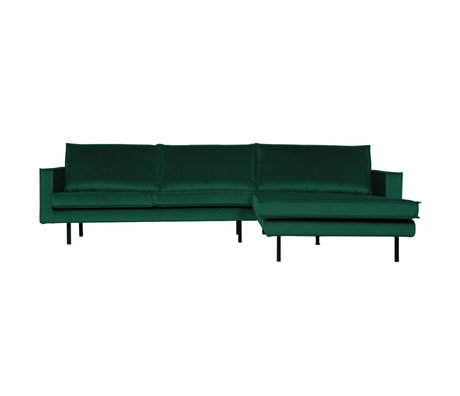 BePureHome Rodeo Chaise Longue Rechts Velvet Green Forest