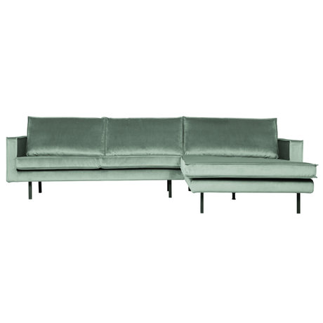 BePureHome Rodeo Chaise Longue Rechts Velvet Mint