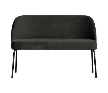 BePureHome Eetbank Vogue zwart fluweel 120x59x82,5cm