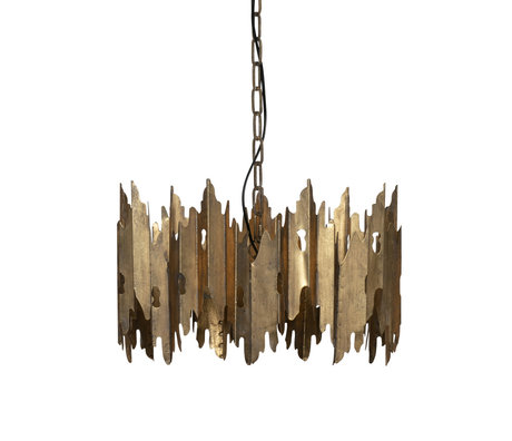BePureHome Hanging lamp Crown antique brass gold metal 30x48x48cm
