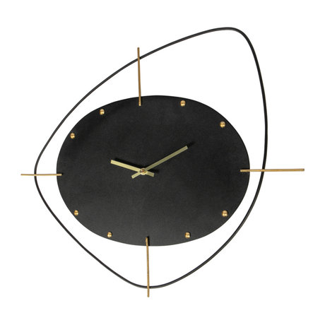 BePureHome Two O'clock Wandklok Metaal Zwart