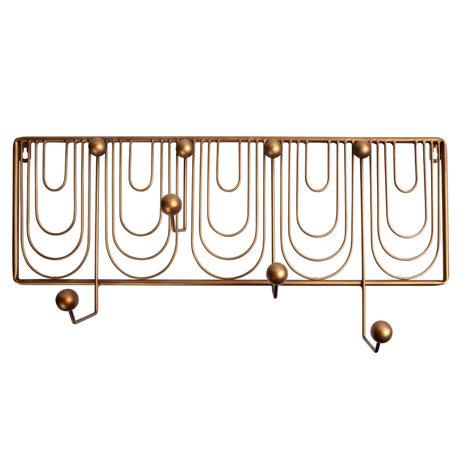 BePureHome Ornamental Kapstok Metaal Antique Brass