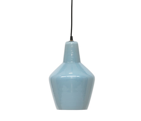BePureHome Hanglamp Pottery lichtblauw glas Ø22x33cm