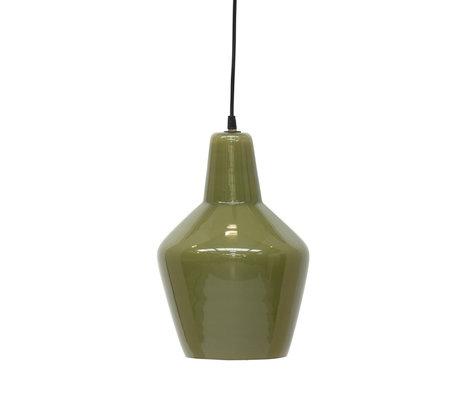 BePureHome Pottery Hanglamp Glas Mosgroen