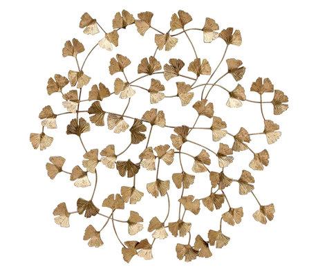 BePureHome Wanddecoratie Wallflowers goud staal 79x3x77cm