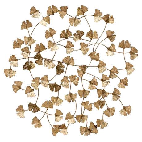 BePureHome Wallflowers Wanddeco Metaal Antique Brass
