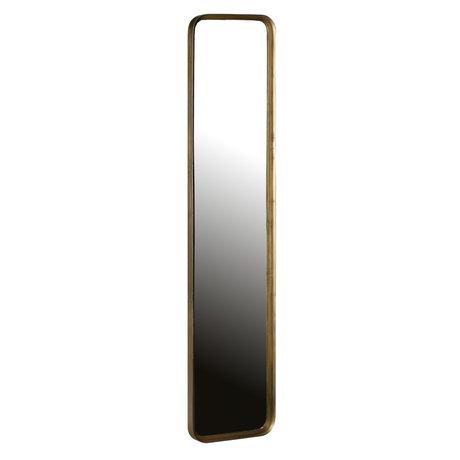 BePureHome Spiegel Slender antiek brass goud ijzer 31x4x145cm