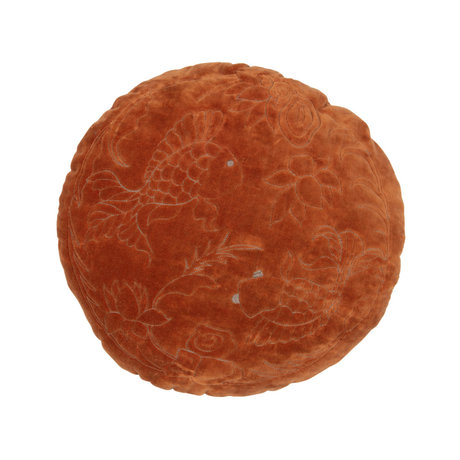 BePureHome Sierkussen Graceful oranje fluweel Ø45cm