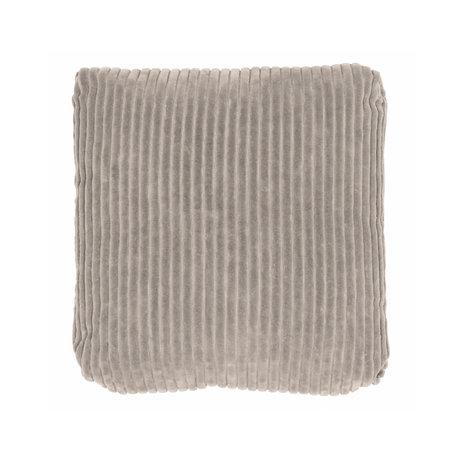 BePureHome Sierkussen Edge grijs fluweel 45x45cm