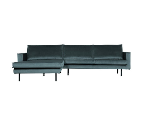 BePureHome Rodeo Chaise Longue Links Velvet Teal