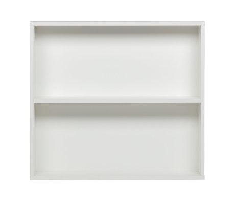 vtwonen Wandkast Letterbak wit grenen 110x26x100cm