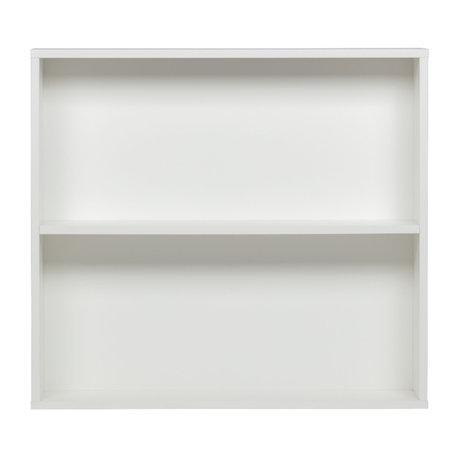 vtwonen Armoire murale Boîte aux lettres pin blanc 100x110x26cm
