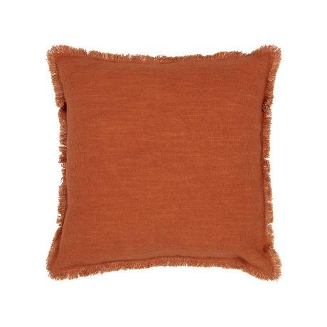 BePureHome Sierkussen Tassel oranje katoen 45x45cm